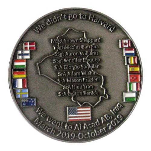 443 AES Vehicle Maintenance  Squadron Vehicle Challenge Coin - View 2