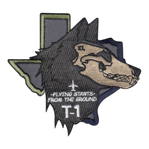 Laughlin AFB T-1 Wolf Head Patch
