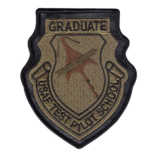 USAF Test Pilot School Instructor OCP Patch with Leather