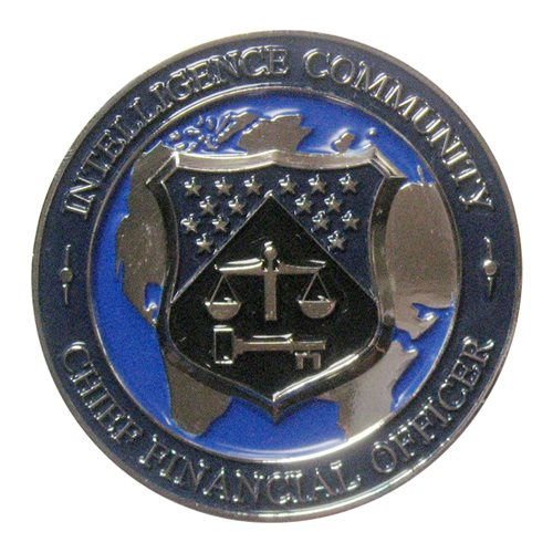 Intelligence Community CFO (silver) Challenge Coin
