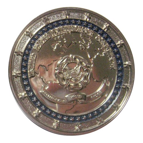 Intelligence Community CFO (silver) Challenge Coin - View 2
