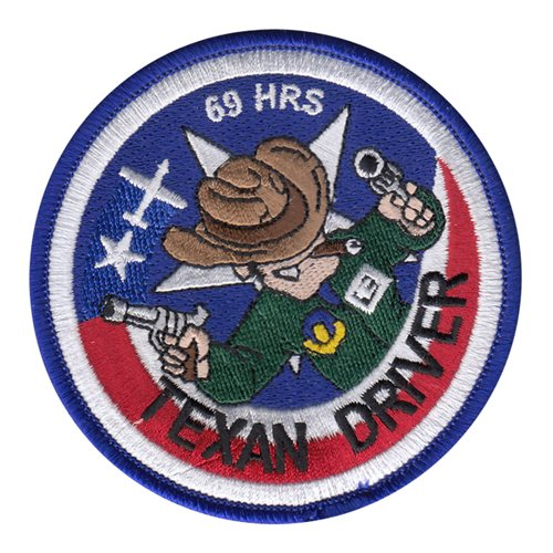 T-6A Texan Driver 69 Hours Patch