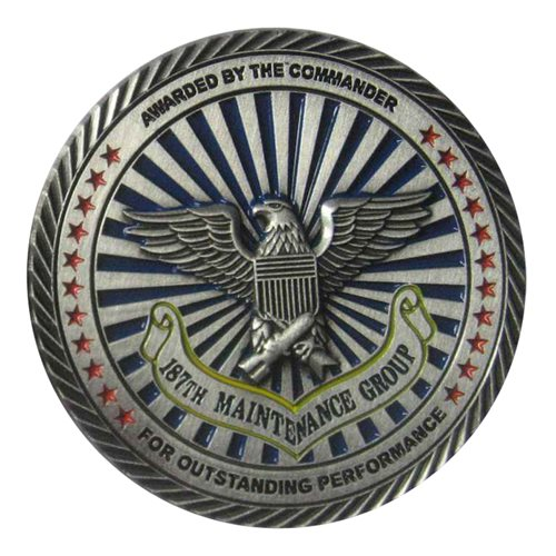 187 MXG Commander Challenge Coin - View 2