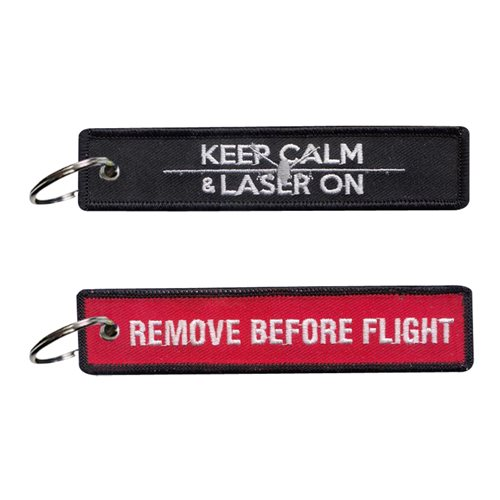 17 ATKS MQ-9 Keep Calm and Laser On Key Flag