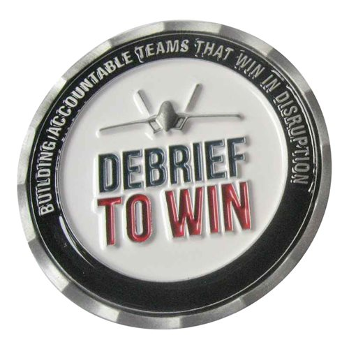 VMAX Group Debreif to Win F-22 Challenge Coin