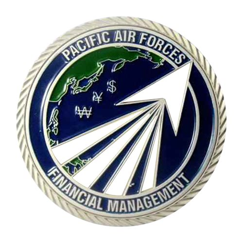 HQ PACAF Financial Management Challenge Coin