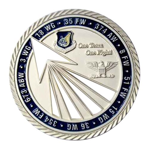 HQ PACAF Financial Management Challenge Coin - View 2
