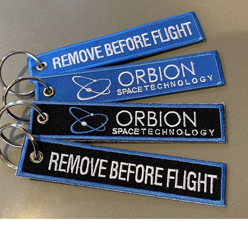 Orbion Space Technology Blue Key Flag - View 2