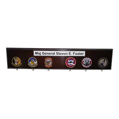 Custom 6-Hook Briefing Stick Rack - View 3