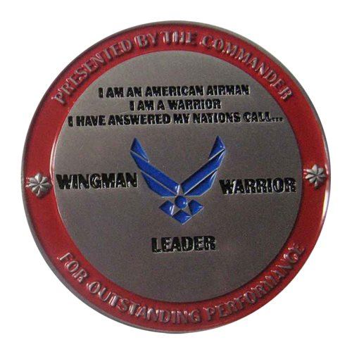 AFROTC Det 17 Commander Challenge Coin - View 2