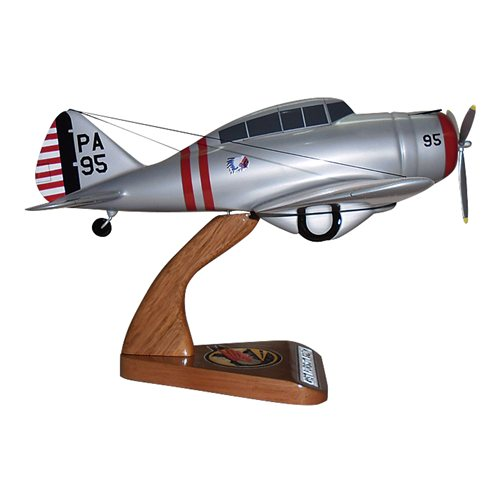 41 FTS P-35D Custom Airplane Model  - View 4