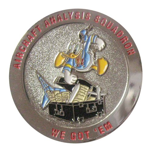 Aircraft Analysis Squadron Challenge Coin - View 2