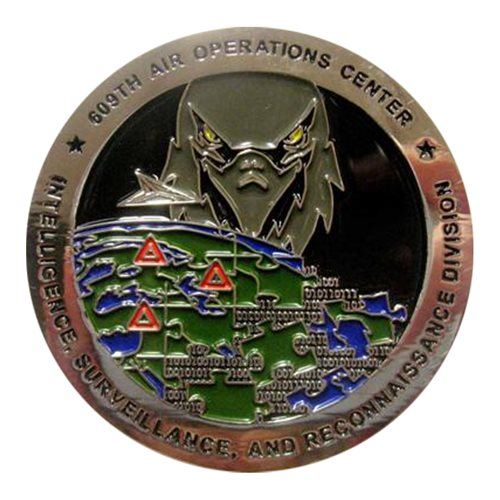 609 AOC Chief Col Ryan O'Neal Coin Challenge Coin - View 2