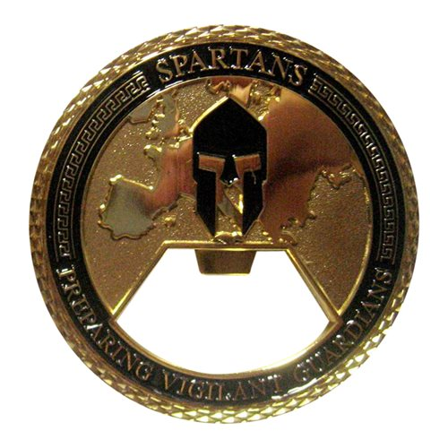 EIAMDC Spartans Bottle Opener Challenge Coin - View 2