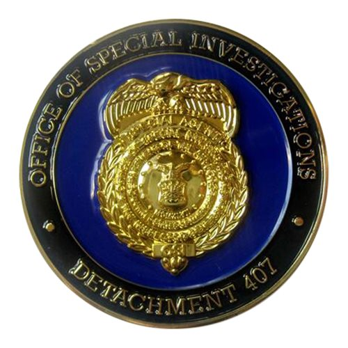 AFOSI Det 407 Challenge Coin - View 2