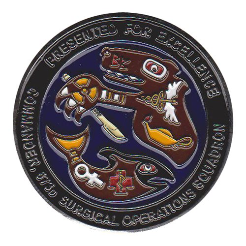 673 MSGS Custom Air Force Challenge Coin - View 2