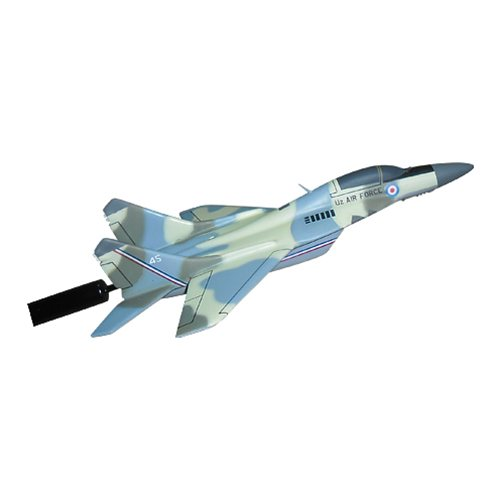 Uzbekistan Air Force MiG-29 Fulcrum Custom Airplane Model Briefing Sticks  - View 3