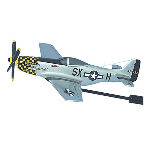 The Little Witch P-51D Custom Airplane Model Briefing Sticks