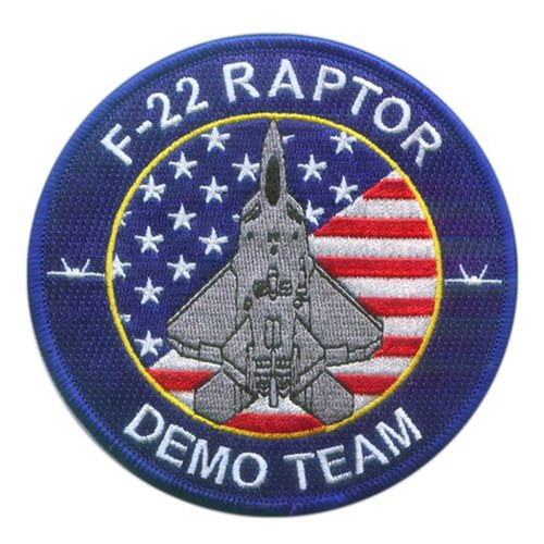 F-22 Demo Team Blue Patch