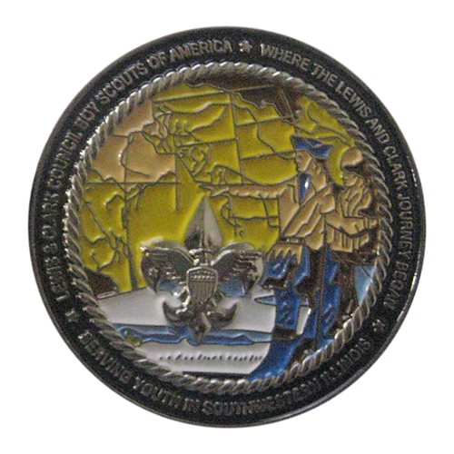 BSA Lewis and Clark 2013 Challenge Coin - View 2