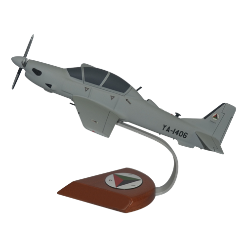 Afghan Air Force A-29 Tucano Custom Airplane Model  - View 2