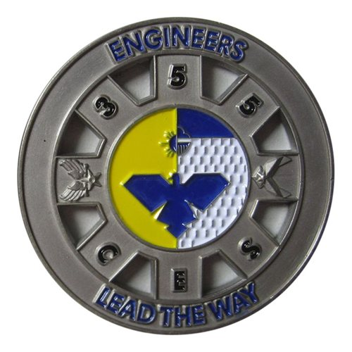 355 CES Custom Air Force Challenge Coin - View 2