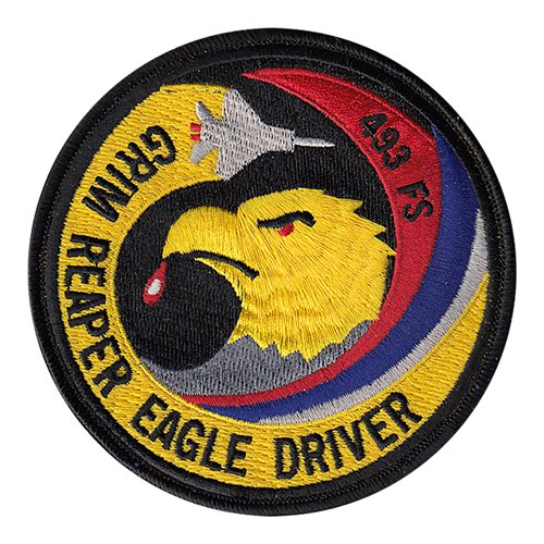 493 FS Grim Reaper Eagle Driver Patch