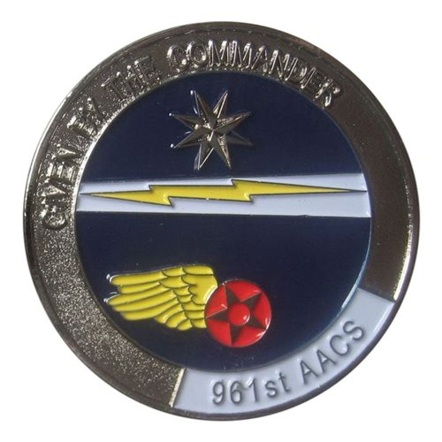 961 AACS Commander Coin - View 2