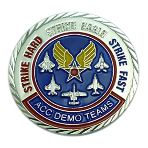F-15 Demo Team Custom Air Force Challenge Coin - View 2
