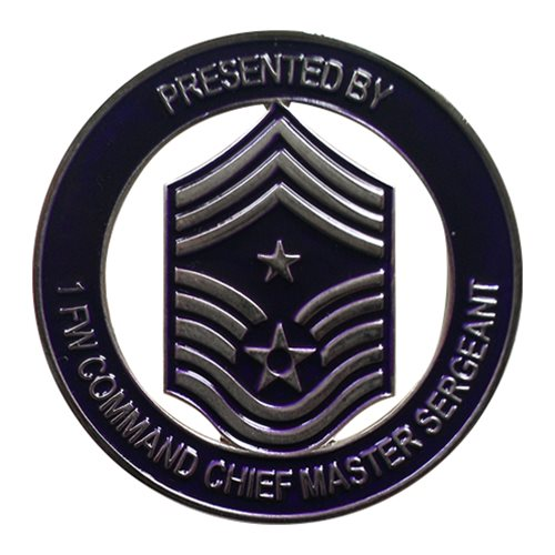 1 FW Command Chief Air Force Challenge Coin
