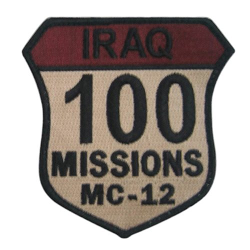 MC-12 100 Combat Missions Patch