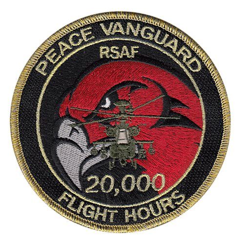 Peace Vanguard AH-64 20,000 Hours patches