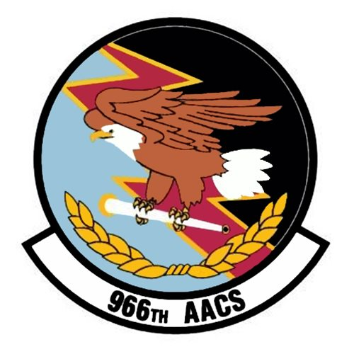 966 AACS E-3 Airplane Tail Flash
