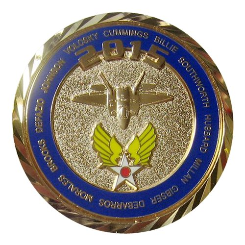 F-22 Demo Team Custom Air Force Challenge Coin - View 2