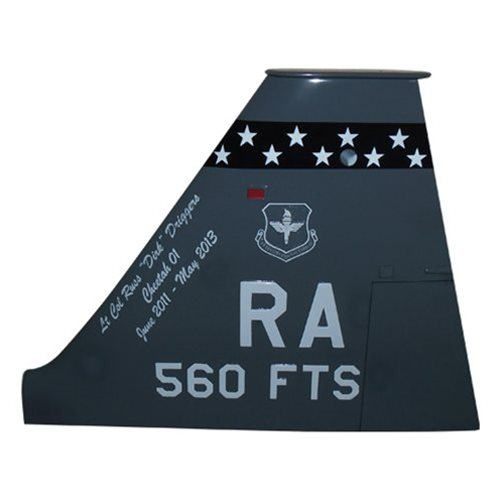 560 FTS T-38 Airplane Tail Flash