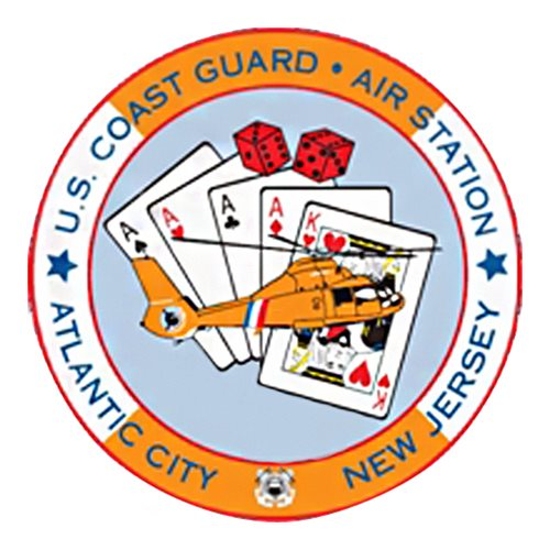 CGAS Atlantic City MH-65D Airplane Tail Flash