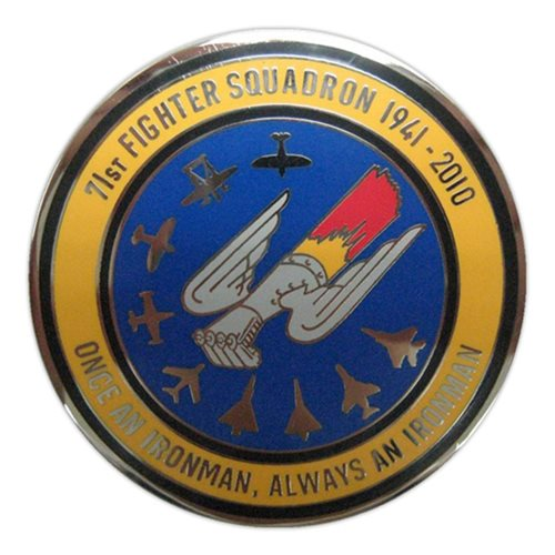 71 FS Coin Custom Air Force Challenge Coin