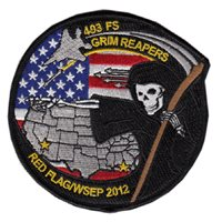 493 FS Red Flag WSEP 2012 Patch