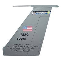 92 ARW KC-135 Airplane Tail Flash