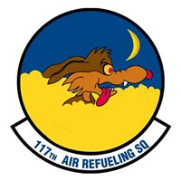 117 ARS KC-135 Airplane Tail Flash