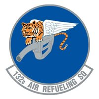 132 ARS KC-135 Airplane Tail Flash