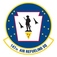 147 ARS KC-135 Airplane Tail Flash