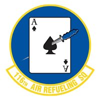 116 ARS KC-135 Airplane Tail Flash
