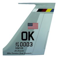 552 OG E-3 Sentry Custom Airplane Tail Flash