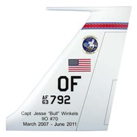 55 WG RC-135 Airplane Tail Flash