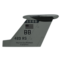 489 RS MC-12W Custom Airplane Tail Flash