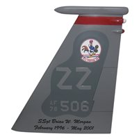 67 FS F-15C Eagle Custom Airplane Tail Flash