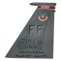 71 FS F-15C Eagle Custom Airplane Tail Flash