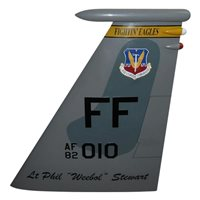 27 FS F-15 Airplane Tail Flash