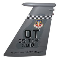 85 TES F-15C Eagle Custom Airplane Tail Flash